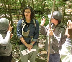 Outdoor adventure camp challenges adolescents physically, mentally