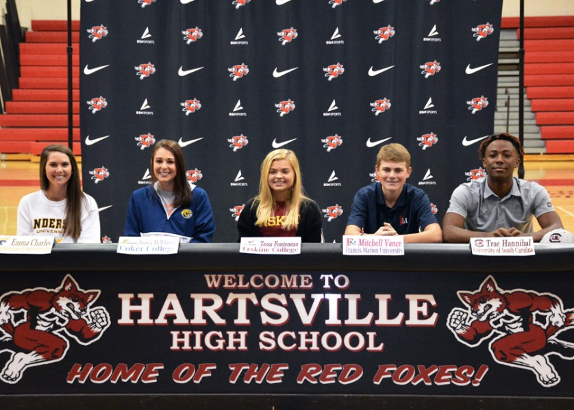 Five Hartsville High student-athletes sign letters of intent