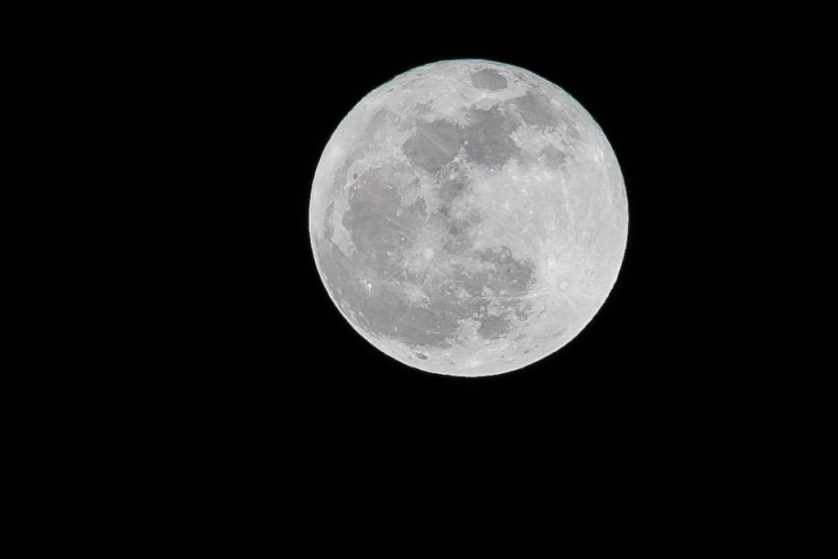 """Cold Moon"" over Darlington tonight"
