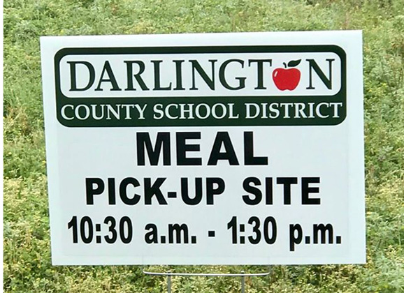 Schedule for school district's free meals