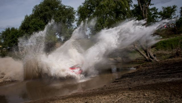 Giniel De Villiers (ZAF) of Toyota Gazoo Racing South Africa races during prologue stage of Rally Dakar 2016 in Arrecifes, Argentina on January 2nd, 2016