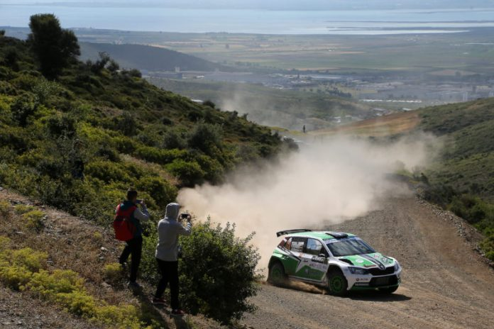 11 SIRMACIS Ralfs  SIMINS Arturs SKODA Fabia R5 Action during the European Rally Championship 2016 - Acropolis Rally Of Grece - Lamia From May 6 to 8 in Lamia - Photo Jorge Cunha / DPPI