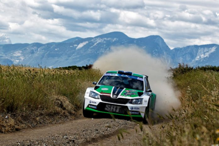 11 SIRMACIS Ralfs  SIMINS Arturs SKODA Fabia R5 Action1 during the European Rally Championship 2016 - Acropolis Rally Of Grece - Lamia From May 6 to 8 in Lamia- Photo Gregory Lenormand / DPPI