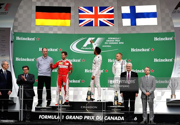 during the Canadian Formula One Grand Prix at Circuit Gilles Villeneuve on June 12, 2016 in Montreal, Canada.