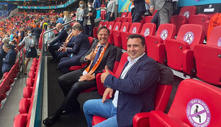 Ο Ζάεφ υποστήριξε δυνατά την εθνική ποδοσφαιρική ομάδα της Μακεδονίας