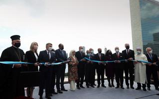 Ο Αρχιεπίσκοπος Αμερικής κ. Ελπιδοφόρος στα εγκαίνια του 36όροφου «Τουρκικού Κέντρου»