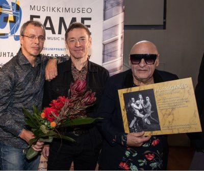 Legendaarinen Hurriganes musiikkimuseo Famen kunniagalleriaan