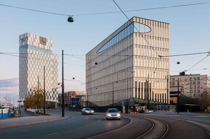 Supercellin pääkonttori on 8-kerroksinen, puinen toimistorakennus Jätkäsaaressa. Kuva: Tuomas Uusheimo.