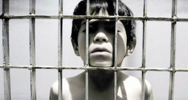 Eight-year-old locked up