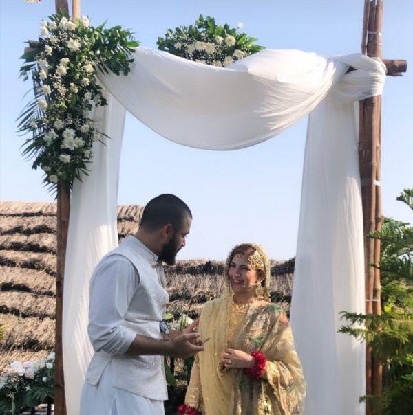 Images Of Hamza Ali Abbasi and Naimal Khawar Wedding