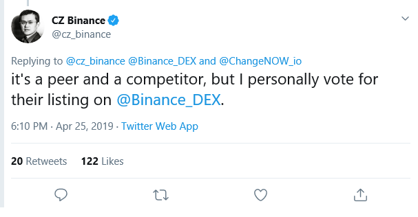 binance, dex
