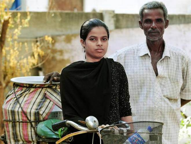 A. Ashika Beham, the daughter of buttermilk vendor became topper