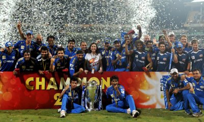 Mumbai Indians Holds the Cup