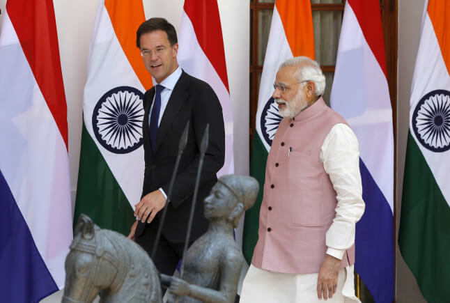 Modi arrived in the Netherlands on the final leg of his three-nation tour to Strengthen Bilateral Ties