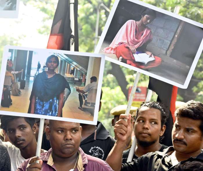 Protest Aganist Anitha's Death and NEET Examination in TamilNadu
