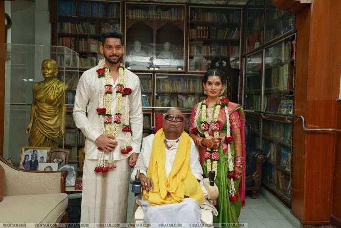 Vikram's Daughter Marries DMK Leader Karunanidhi's Great Grandson