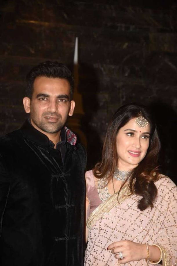 Zaheer Khan and Sagarika Ghatge at St Regis for their wedding party