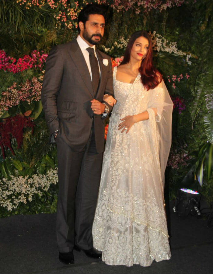Abhishek and Aishwarya Bachchan at Virushka's Mumbai reception