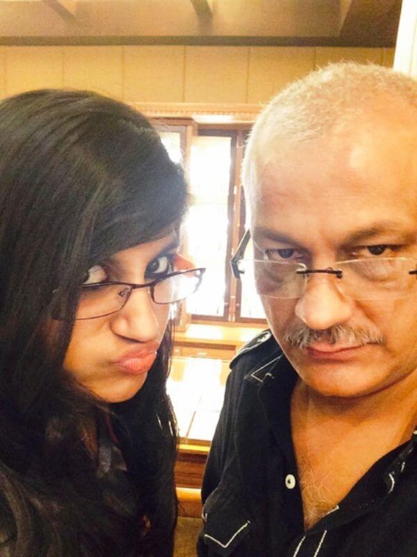 Yaashika Anand Father Chetan Anand
