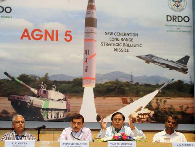 India Successfully test-fires Nuclear Capable Agni-5 Ballistic Missile