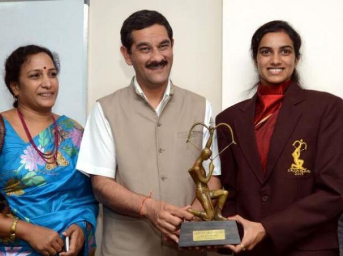 P. V. Sindhu Family Images