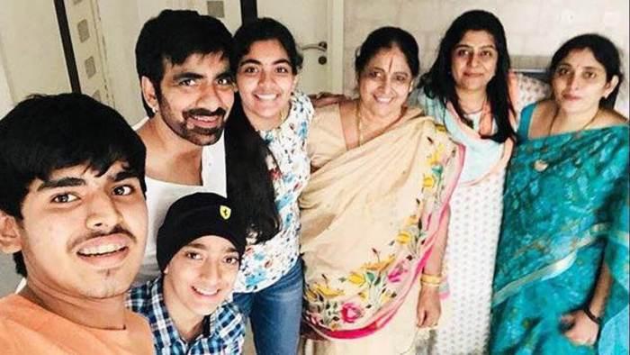 Ravi Teja Family Photo