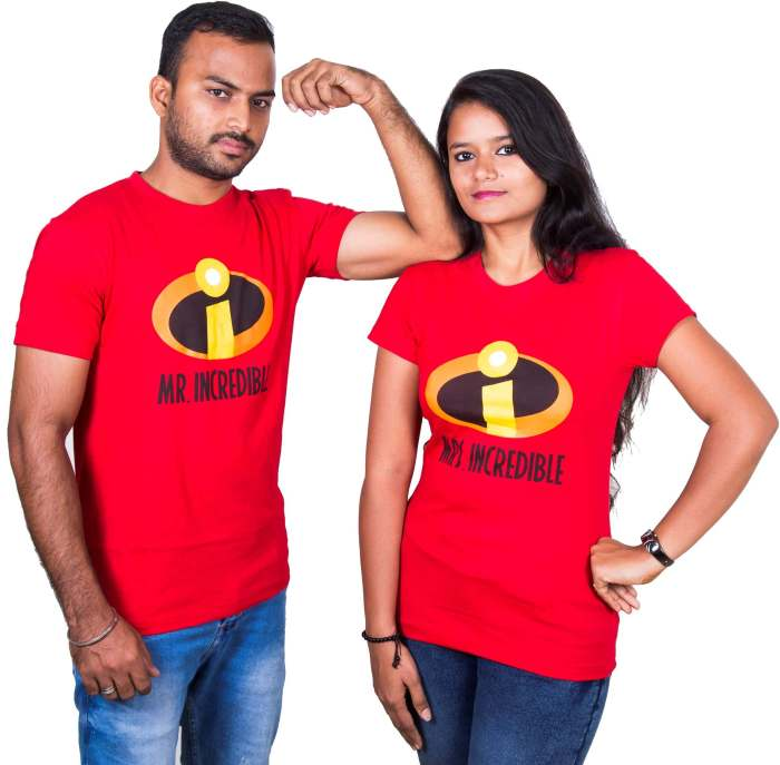 Mr and Mrs. Incredible Love Couple T-Shirt