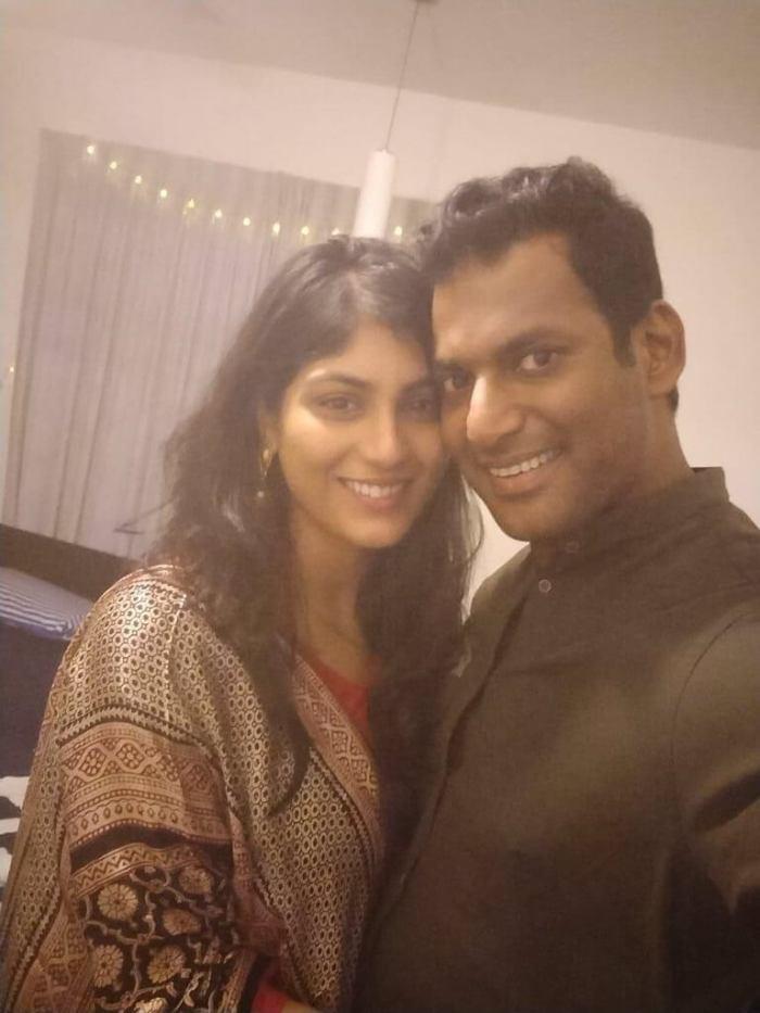 Vishal and Anisha Alla Reddy