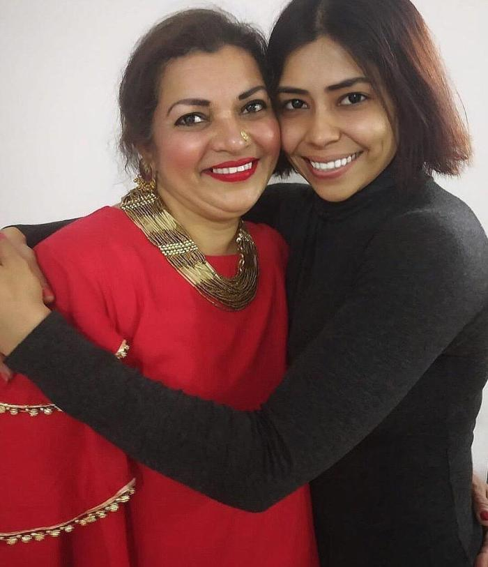 Farrah Kader with her mother