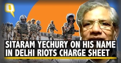 'BJP Intimidates People': Sitaram Yechury on His Name In Delhi Riots Charge Sheet | The Quint