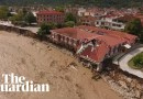 Hurricane Ianos: drone footage shows flooding and destruction in Greece