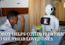 Indian hospital installs robot to help Covid-19 patients connect with family