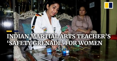 Taekwondo teacher creates 'safety grenade' to fight crimes against women in India