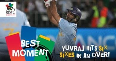 Yuvraj Singh slams six sixes off Stuart Broad | ENG v IND | T20 World Cup 2007