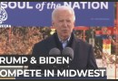 US election: Trump and Biden appeal to blue-collar voters