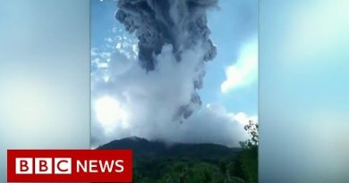 Thousands flee poisonous gas after volcano erupts – BBC News