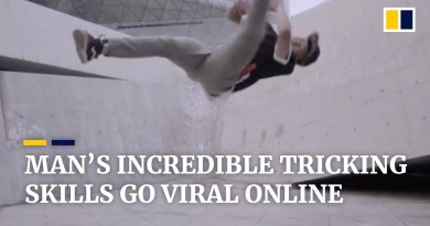 Man's incredible tricking skills go viral online in China