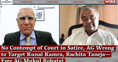 No Contempt of Court in Satire, AG Wrong to Target Kunal Kamra, Rachita Taneja—Fmr AG Mukul Rohatgi