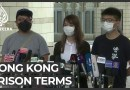 Three prominent Hong Kong activists jailed
