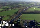 Timelapse footage shows scale of lorry queues in south-east