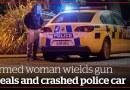 Rotorua woman wields gun, steals police car, crashes | nzherald.co.nz