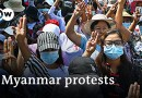 Myanmar security forces open fire at protesters | DW News