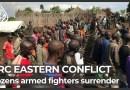 DR Congo eastern conflict: Dozens of militia fighters surrender
