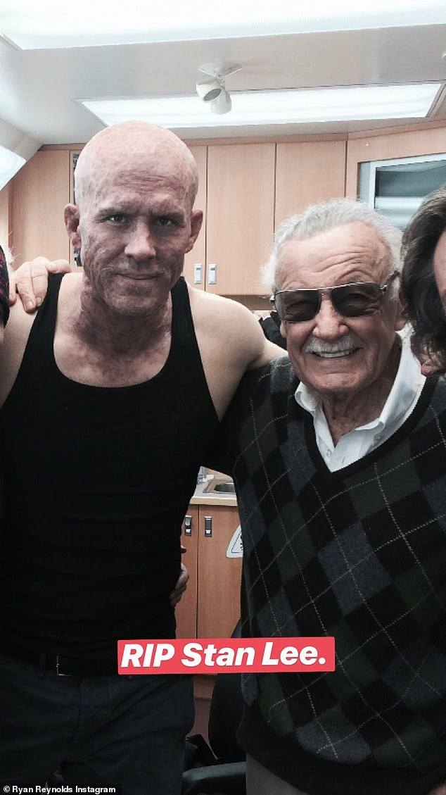 'RIP Stan Lee'; Ryan Reynolds in character as Deadpool shared this snap of the producer