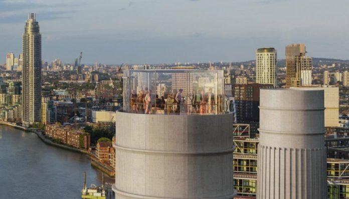 Battersea Power Station glass Chimney Lift by Wilkinson Eyre