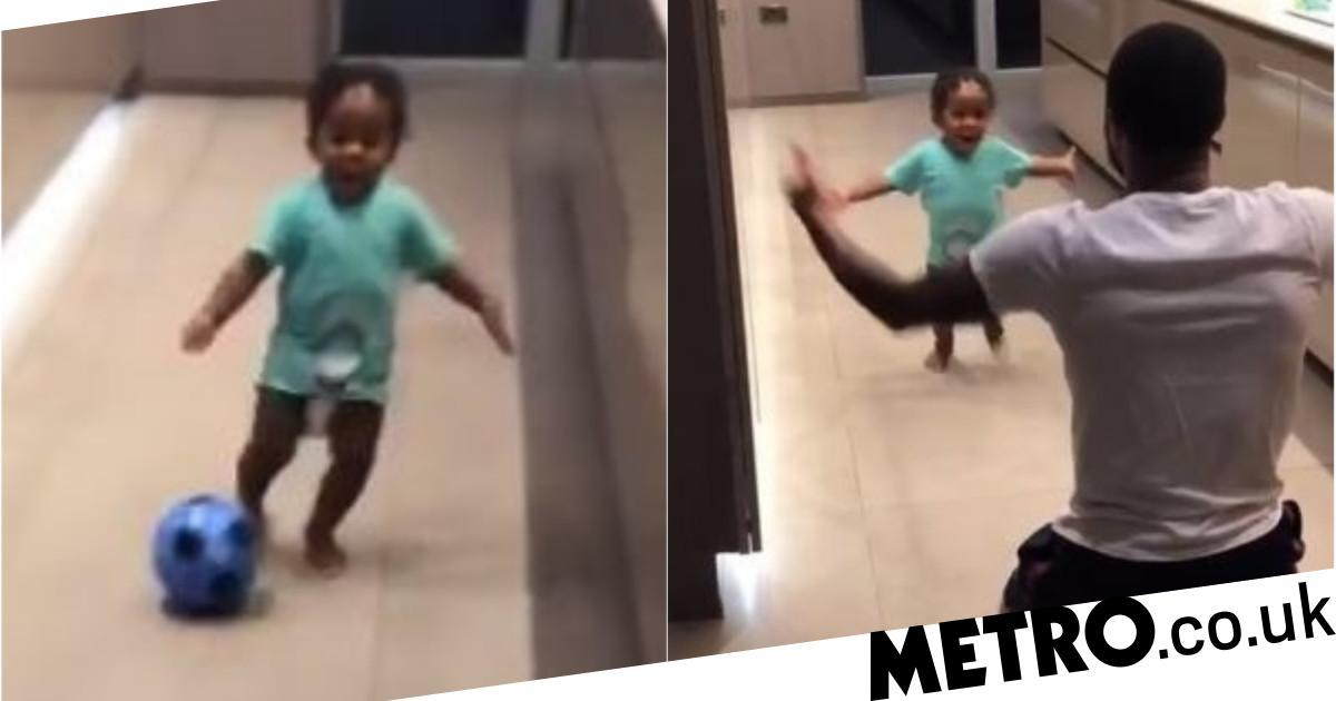 5665507e0 Raheem Sterling s one-year-old son shows his incredible football skills -  Newscabal