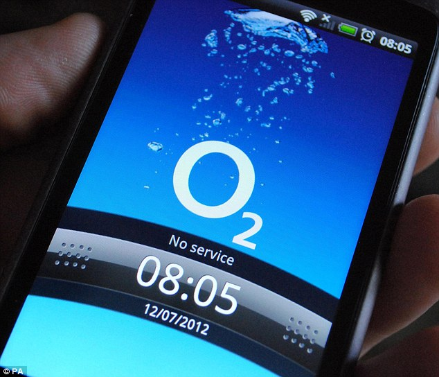 Thousands of O2 mobile phone users faced trouble using their 4G data today (file picture)