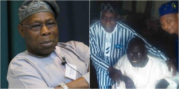 Obasanjo visits his 91-year-old former teacher lailasnews 2