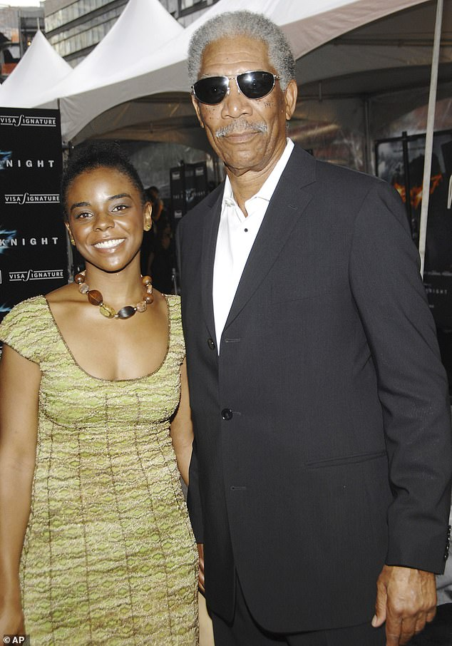Tragic end: Freeman in 2008 was snapped in NYC with hisstep-granddaughter E'Dena Hines, who was killed by her boyfriend in 2015