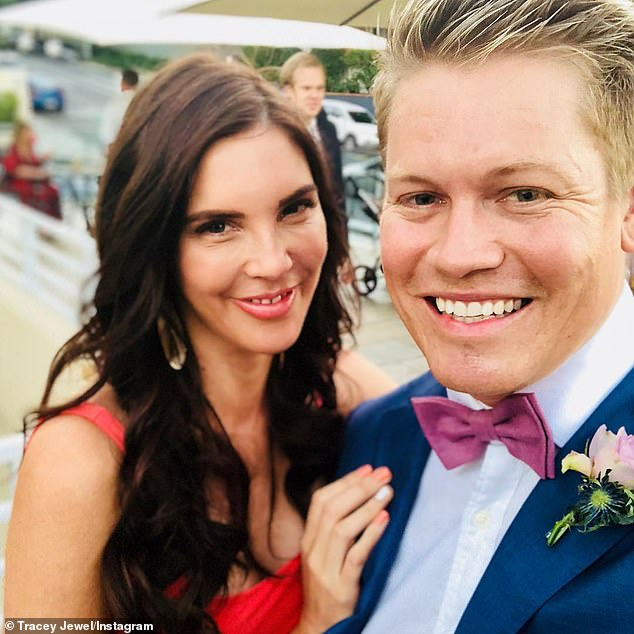 Chequered past: Interestingly, Sean Thomsen (right) had a controversial stint on MAFS last year. He was paired with Blair Rachael but later enjoyed a fling with fellow contestant Tracey Jewel (left)